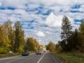 Красноармейское шоссе в районе Царёво, октябрь 2017 года