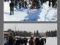 Масленица у ДК им. Ленина, катание на лошадях, 1987 и 2009 год