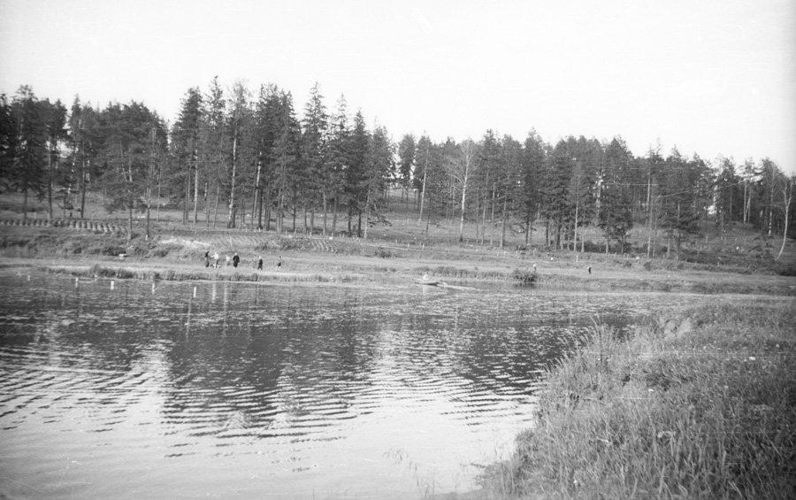 Река Воря в районе лодочной станции, 1960-е годы