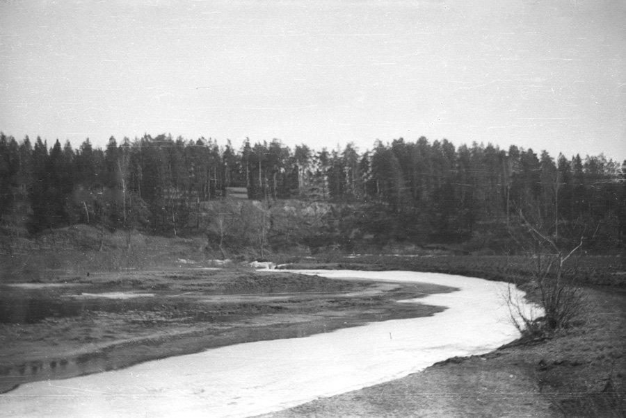 Река Воря в районе Пирожной горы, 1960-е годы