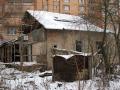 Место, где стояли дома улицы Трудовой, на заднем плане дома на Гагарина