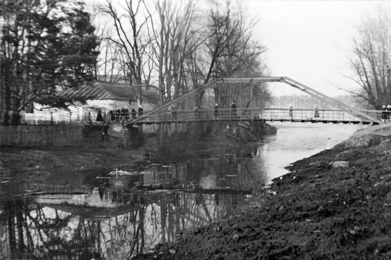 Подвесной мост через водоотводной канал, 1930-е годы