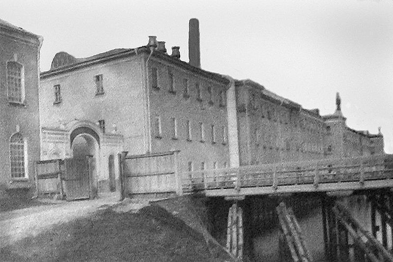 Мост через Ворю около городской плотины, 1930-е годы