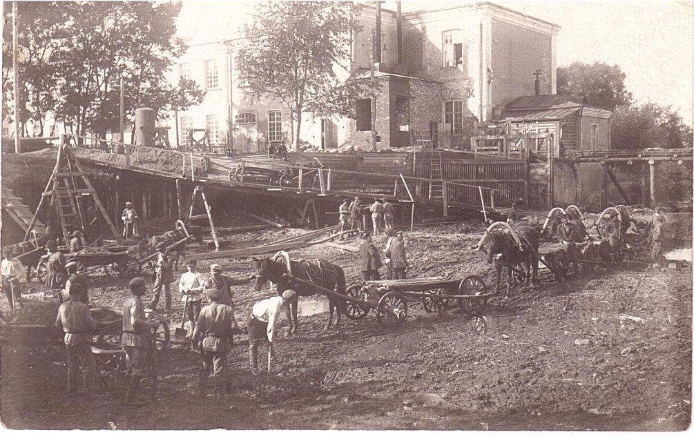 Строительство новой плотины в 1927 году