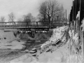 Городская плотина зимой, 1970-е годы