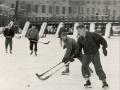 Хоккейный матч на льду Вори около Плотины, 1960-е годы