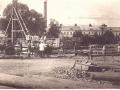 Строительство водоотводного канала на реке Воре около городской плотины, 1920 год