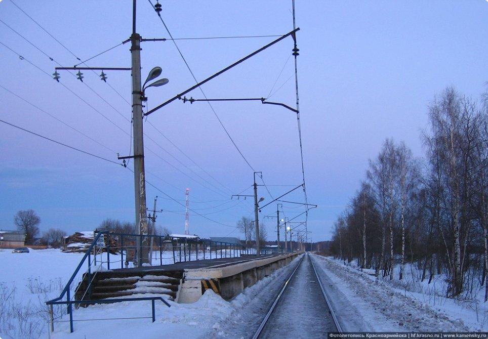 Платформа Федоровское, зима