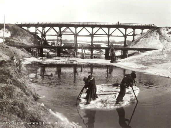 Болгарский и низкий мосты через Ворю