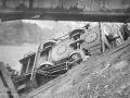 Сходы с рельс на узкоколейной дороге — привычное дело, 1923 год, авария на линии «на болото» у моста через реку Плакса