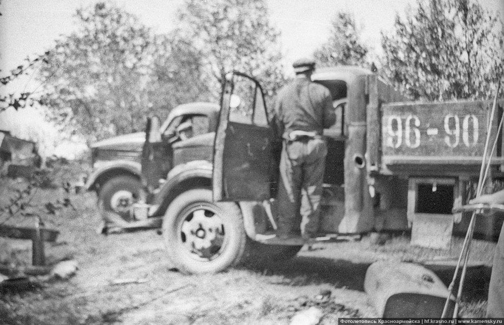 Деревня Путилово, 1960-е годы, автомобили ГАЗ-51