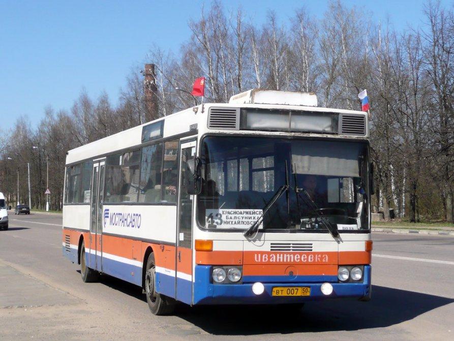 Автобус MAN на проспекте Испытателей в Красноармейске, 2008 год