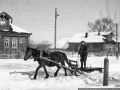 Деревня Путилово, 1950-е годы, на подводе