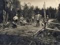 Деревня Путилово, 1930-е годы, строительство дороги