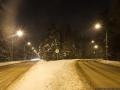 Слева — старая трасса Красноармейского шоссе, оно шло прямо до микрорайона Серебрянка, справа — новая трасса шоссе к мосту через новое Ярославское шоссе