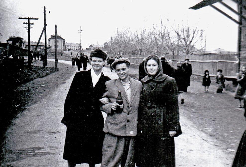 Красноармейское шоссе в районе Площади Победы, 1950-е годы