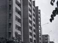 Улица Комсомольская и дом 17 в микрорайоне Северный, напротив школы №3, 1970-е годы