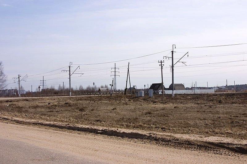Переезд около Путилово, здесь так же проходил и путь УЖД