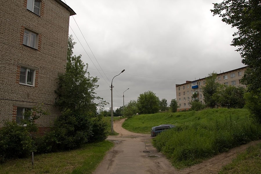 Краснофлотская улица в Красноармейске, здесь проходили пути УЖД