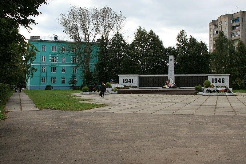Площадь Победы в Красноармейске, здесь проходили пути УЖД