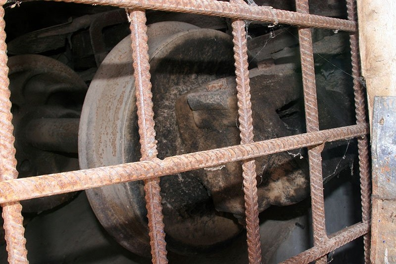 Голубятня, переделанная из узкоколейного вагона