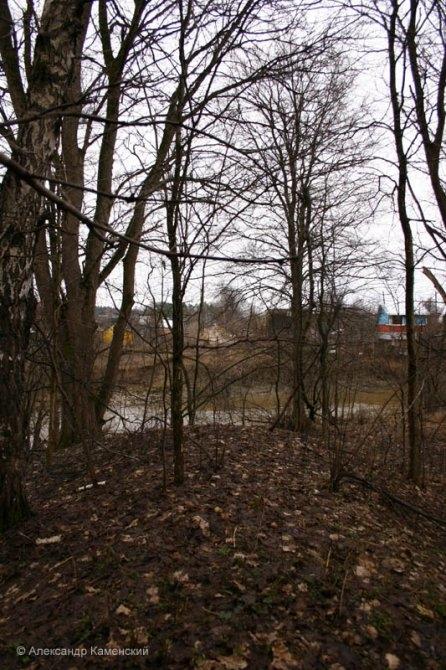 Здесь проходили пути УЖД, река Воря и сады на Подсобном на заднем плане