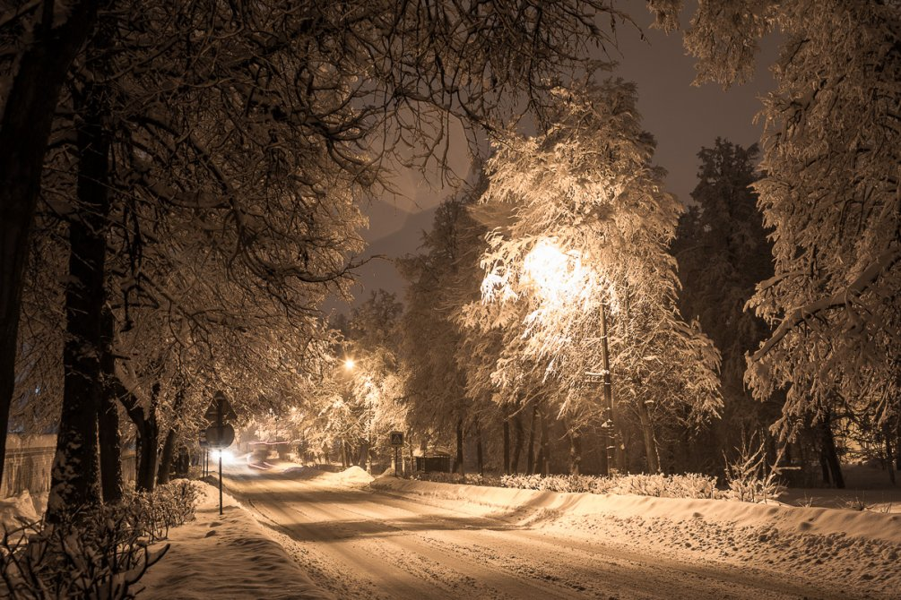 Снегопад, февраль 2018 года